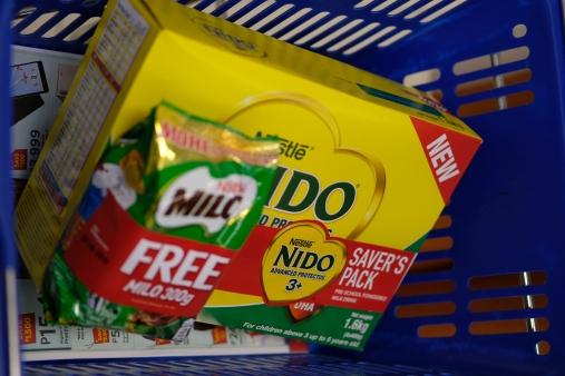 Nido comes with free Milo. Yay!